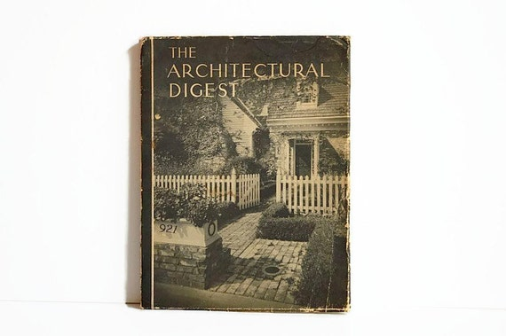 vintage architectural digest magazine ad 1940s by