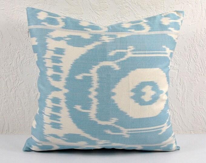Ikat Pillow, Hand Woven Ikat Pillow Cover A123-1AB1, Ikat throw pillows, Designer pillows, Decorative pillows, Accent pillows