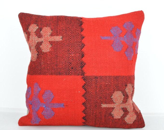Kilim pillow, Kilim Pillow Cover k595, Turkish Pillow, Kilim Cushions, Bohemian Decor, Moroccan Pillow,  Bohemian Pillow, Turkish Kilim