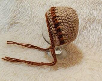 Newborn bonnet. Newborn round bonnet. Boy bonnet. Newborn hat.