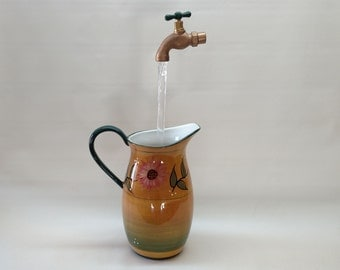 Sun Flower Pitcher Floating Faucet Water Fountain