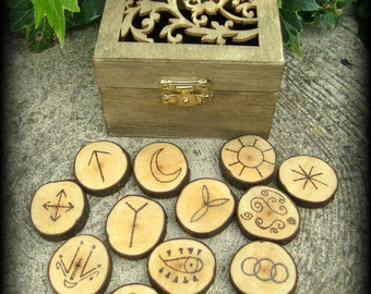Witches Runes Reliquary - Witchcraft, Magic, Wicca, Pagan