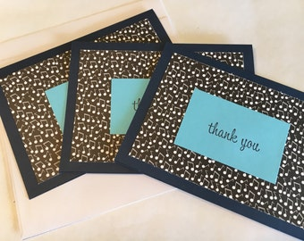 Thank You Music Note Cards - Set of 3 - Inside Blank