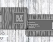 Personalized Bag/Luggage Tag - Wires - Father - Dad - Son Luggage - Masculine