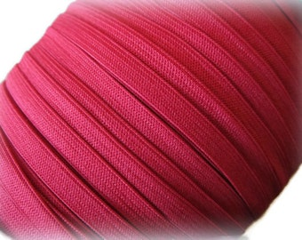 "1/4"" Dark Red Elastic. 5 Yards"