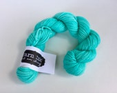 classic {sock} mini's | AQUA | ready to ship | hand dyed yarn | merino nylon