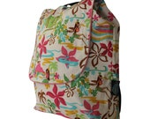 FREE SHIPPING. Sweet Dreams Backpack Nap time travel set-Hula Wahine Beige