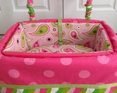 Dog Car Seat - LARGE ***Ready Made Hot Pink, Lime Green - Dot, Wave, Paisley *** by FancyFido
