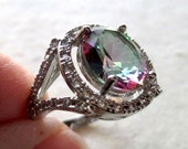 Sterling Silver Mystic Topaz Ring, Size 9
