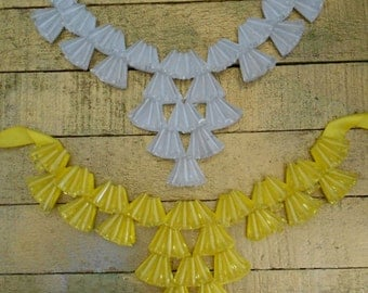 Yellow and Clear Stone Beaded Collars