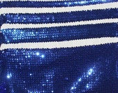 """Sequin Trims Royal Blue Sequin Trim ~3/4 Inch,  to 2.75 """" Wide ~Sold By the Yard~New-Shipped free"""