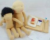 Material doll kit, waldorf doll supplies, material doll making
