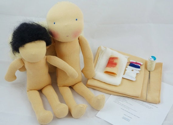 Material doll kit waldorf doll supplies material doll by - Material waldorf ...