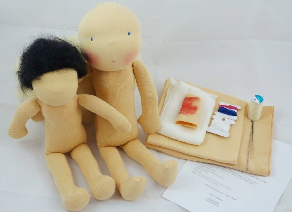 Material doll kit waldorf doll supplies material doll by - Material waldorf ...