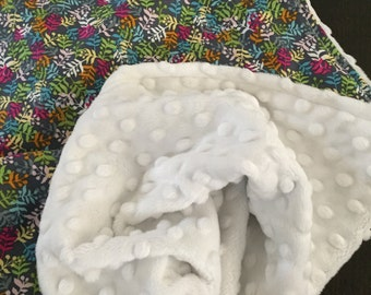 Baby Blanket in Blend Fabric byMaude Asbury Calypso READY TO SHIP!!
