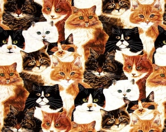 Wilmington Prints - Feline Fine - Packed Cats