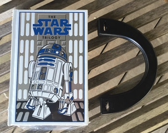 The Star Wars Trilogy Book Purse - White and Silver- R2D2 - Millennium Falcon - MADE TO ORDER