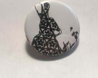 Rabbit Pinback Button