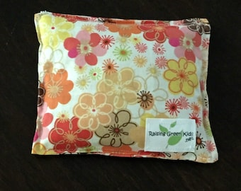 Flaxseed Filled Owie bags, Ouchie Bags, Natural Hot/Cold Therapy Packs flowers