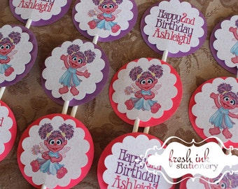 Abby Cadabby Personalized Cupcake Tops & Abby door sign | Etsy