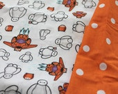 Kawaii Baymax Big Hero 6, Pokemon, and Video Game SNES Maria Luigi Fabric