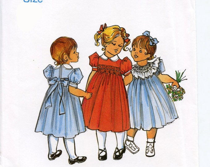 Childrens Corner Pattern / Lee Pattern / Smocked Dress Pattern / Square Yoke Dress Pattern /   Children's Corner #10 / Original Version