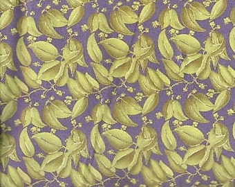 Floral Fabric, Purple Floral Fabric, Lime Green and Purple Fabric, Lime Green Fabric, Floral Green Fabric, GR039