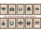 10 Roy Lichtenstein Style...