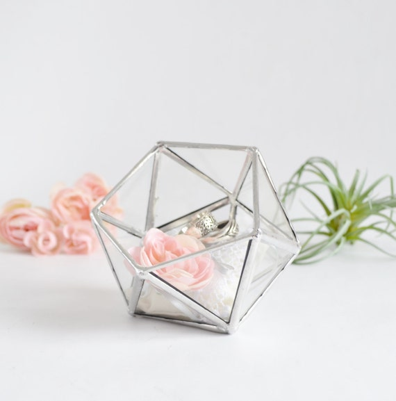 Wedding Ring Gift Box : Glass Box Wedding Gift Wedding Ring Box Glass Terrarium Clear Glass ...