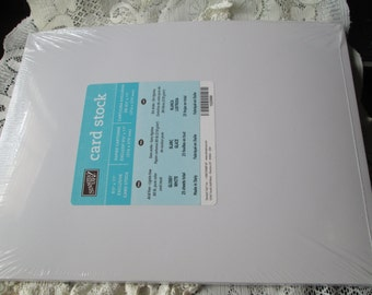 GLOSSY WHITE SPECIALTY Card Stock - 8 1/2 x 11 Cardstock - -  Stampin Up Retired