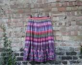 1950s flared skirt, cotton multicolour