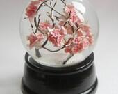 LARGER version  *** Japanese SAKURA Cherry Blossom handcrafted snowglobe