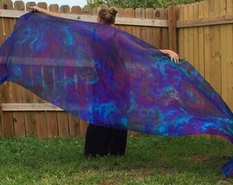 The berry patch silk veil for bellydance