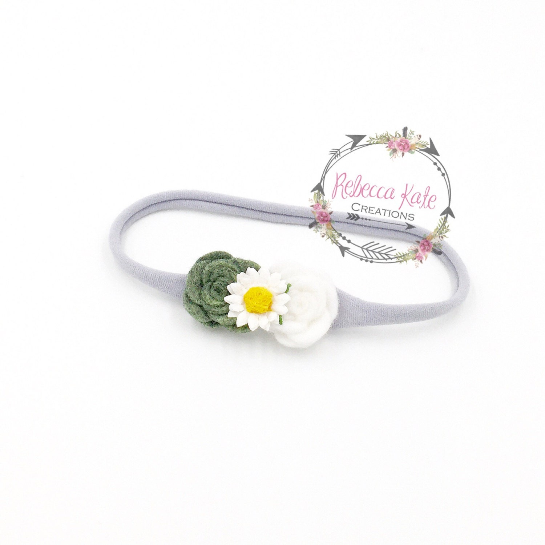 Felt Flower Headbandbaby Headbandfalldaisynylon Headband