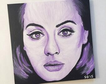 Adele 25 Acrylic Painting - 12x12in