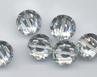 Six vintage Swarovski crystals - art. 5100 - 12 mm - crystal comet argent light