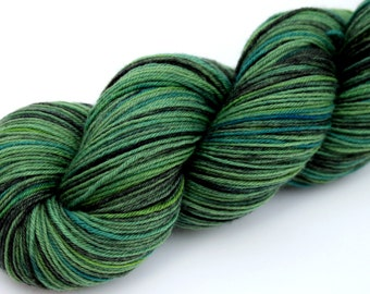 "Kettle Dyed Sock Yarn, Superwash Merino and Nylon 75/25 Fingering Weight, in ""Mendocino"""