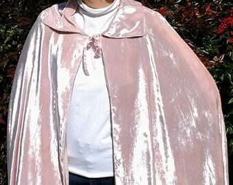 Pink Velvet Cape