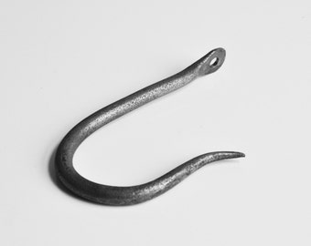 Blacksmith made hand forged J Hook