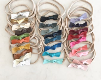 Leather Knot Headband - pick your color
