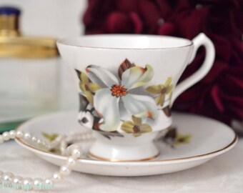 Royal Imperial  Teacup and Saucer Set, English Bone China Tea Cup Set, ca. 1950