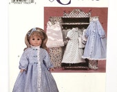 """UNCUT Simplicity Crafts 7449 18"""" Doll Clothes and Wardrobe Sewing Pattern Robe Nightgown Camisole Panties Petticoat Slip"""