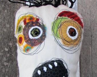 Rocket,the tangled hair space enthusiast handmade ooak art doll
