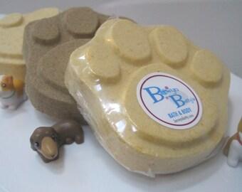 Paw Shaped Bath Bomb - Dog Toy Appears as Bath Bomb Melts