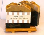 Espresso Handmade Soap - made with Cocoa Butter and Activated Charcoal