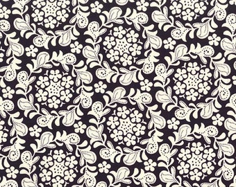 Strawberry Moon - Petite Henna Garden in Blackberry - Sandi Henderson for Michael Miller - DC7306-BLKB-D - 1/2 Yard
