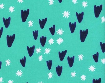 Clover - Tulips in Aqua - Alexia Abegg for Cotton + Steel - 4027-3 - 1/2 yd