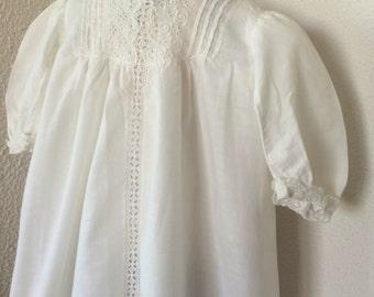 Vintage baby dress, newborn to 3 mos.