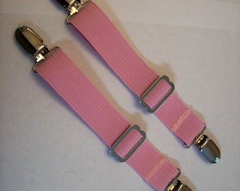 Adjustable Pant Clip Boot Straps, Pink Elastic, Hold Pants Down In Boots