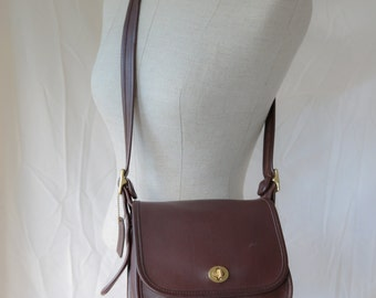 Vintage Leather Coach Legacy Trail Cross body Purse Dark Brown 9965 FREE SHIPPING